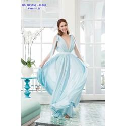 Đầm Maxi Hai Dây Xẻ Ngực Quyến Rũ