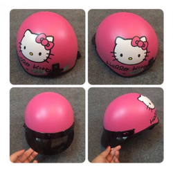 Nón Bảo hiểm hình Hello Kitty