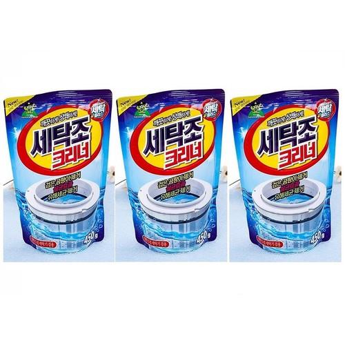 Bộ 3 túi bột tẩy vệ sinh lồng máy giặt - Hàn Quốc 450g