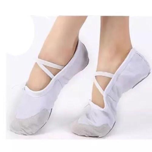 giày múa bale trắng