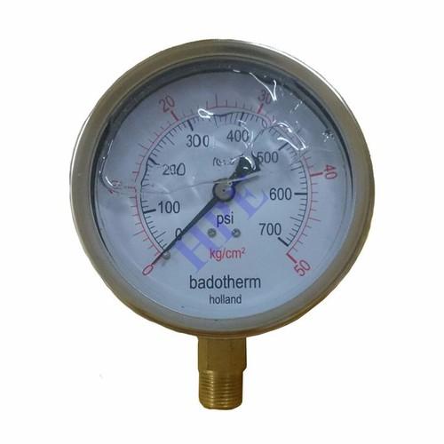 Đồng hồ đo áp suất phi 100 có dầu 50 Kg