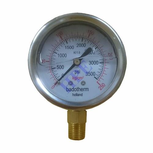 Đồng hồ đo áp suất có dầu 250 Kg