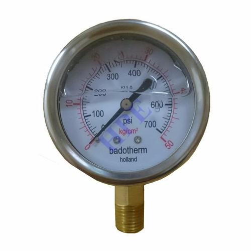 Đồng hồ đo áp suất có dầu 50 Kg