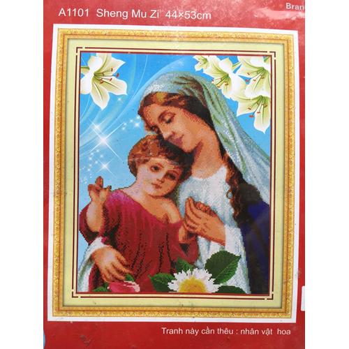 Tranh thêu chữ thập Mẹ Maria - 5329136 , 8872959 , 15_8872959 , 92000 , Tranh-theu-chu-thap-Me-Maria-15_8872959 , sendo.vn , Tranh thêu chữ thập Mẹ Maria