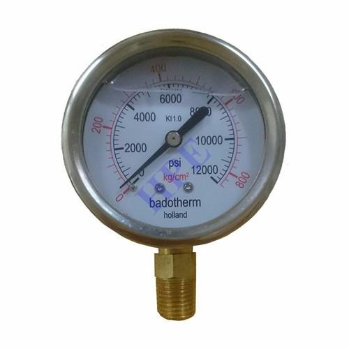Đồng hồ đo áp suất có dầu 800 Kg