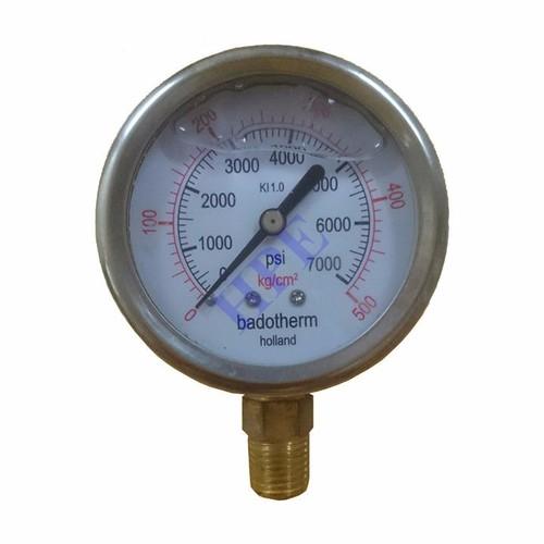 Đồng hồ đo áp suất có dầu 500 Kg