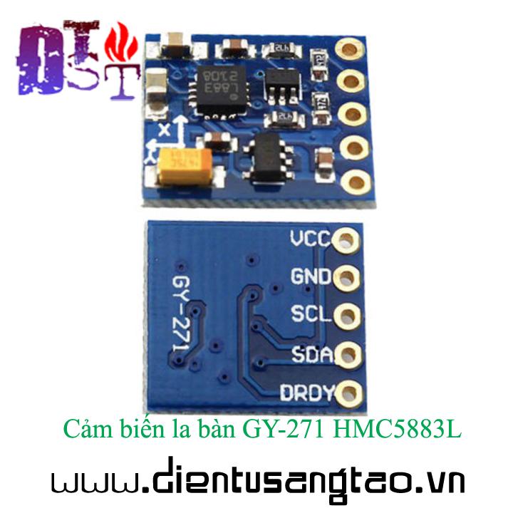 Cảm biến la bàn GY-271 HMC5883L 4
