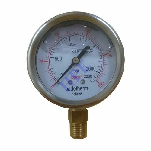 Đồng hồ đo áp suất có dầu 150 Kg