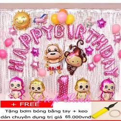 Bong bóng sinh nhật mẫu khỉ các loại