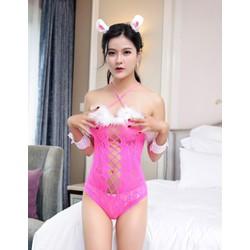 Váy ngủ thỏ ngọc hồng