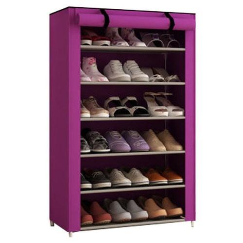 Tủ vải để giày 6 tầng đa năng Tím