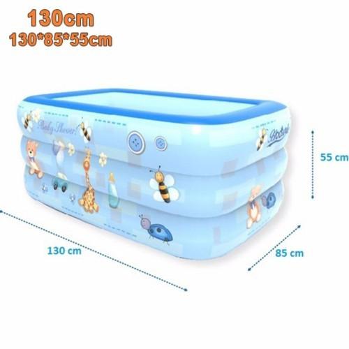Bể bơi 1m3 - 3 tầng - đáy 2 lớp chống trượt
