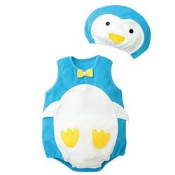 Bodysuite tạo hình chú chim cánh cụt cho bé gái - bé trai đáng iu 8-13