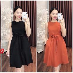 Đầm Xòe Cột Dây Xinh