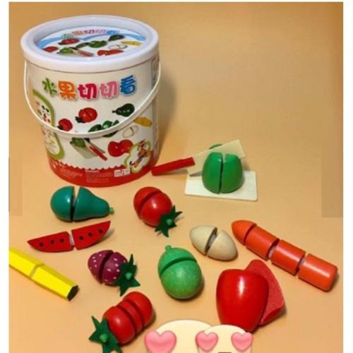 Bộ đồ chơi cắt hoa quả bằng gỗ - 10578767 , 11219634 , 15_11219634 , 99900 , Bo-do-choi-cat-hoa-qua-bang-go-15_11219634 , sendo.vn , Bộ đồ chơi cắt hoa quả bằng gỗ