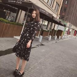 Đầm voan nhún thời trang
