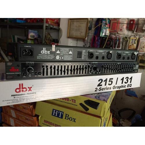 lọc nhạc Equalizer dbx 215 new