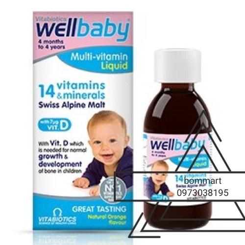 Đủ bill vitamin wellbaby tăng sức đề kháng cho bé