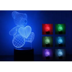 ĐÈN LED 3D GẤU TÌNH YÊU - DEN3D