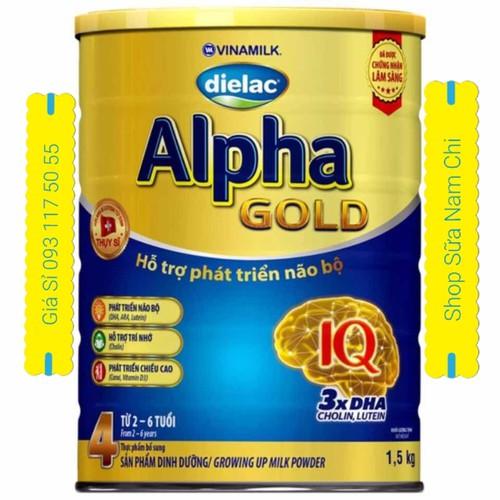 Sữa Bột Dielac Alpha Gold 4 1500g Mẫu Mới Cho Trẻ Từ 2-6 Tuổi