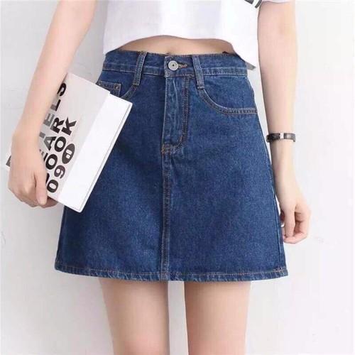 ⚡️[CHỈ 1 NGÀY] Chân Váy Jeans Chữ A Công Sở Thời Trang