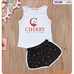 Bộ short Cherry đáng yêu và nhí nhảnh cho bé