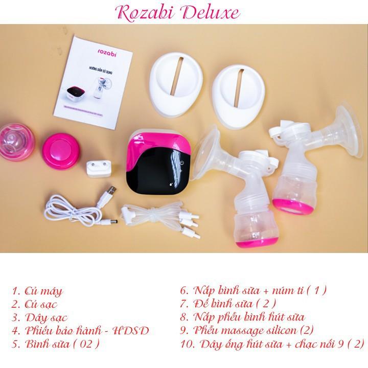Máy hút sữa điện đôi Rozabi deluxe