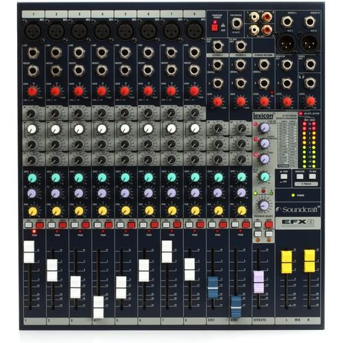 BÀN MIXER SOUNDCRAFT EFX8 chuyên âm thanh sân khấu