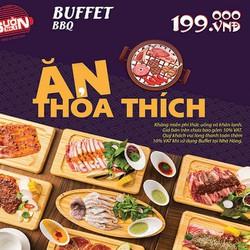 Buffet Tối Hải Sản  Thịt Bò Mỹ Đà Điểu Nai Nướng Cao Cấp Đ