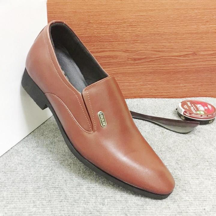 Giày tăng chiều cao nam G310Nmàu nâu lịch lãm 3