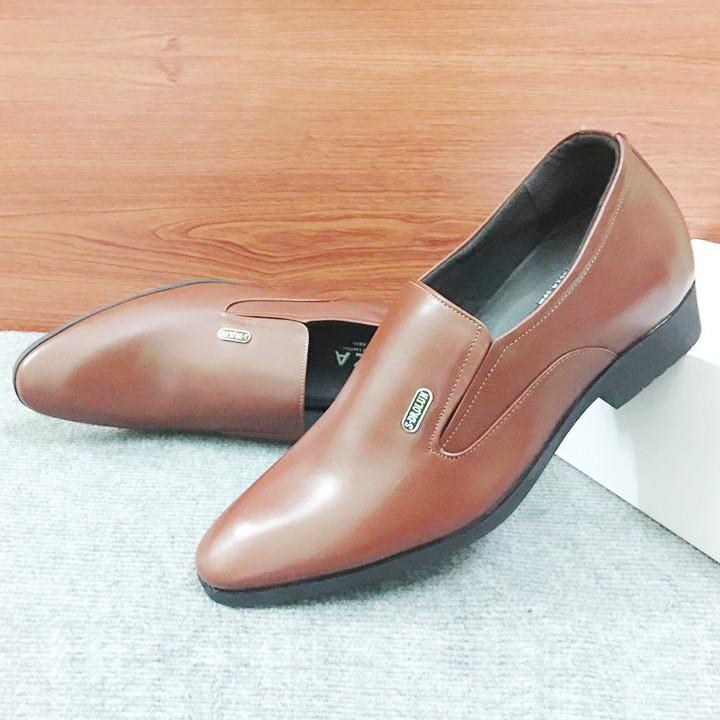 Giày tăng chiều cao nam G310Nmàu nâu lịch lãm 5