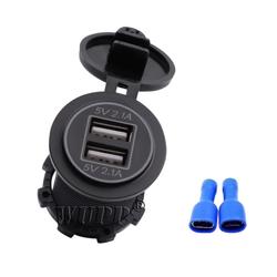 Bộ sạc điện thoại trên ô tô, xe máy, xe tải chuyển đổi từ bình ắc quy 12-24V