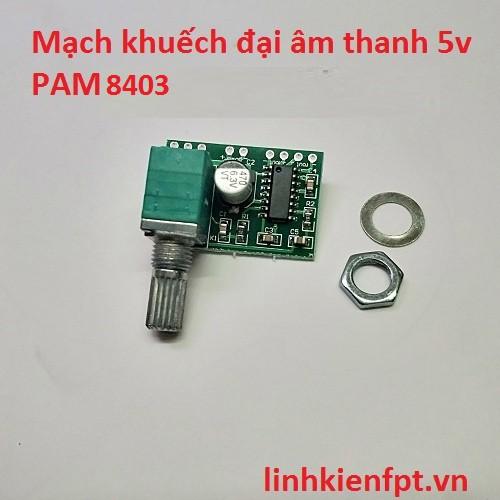Mạch khuếch đại âm thanh 5V Pam8403 - COMBO 3 MẠCH