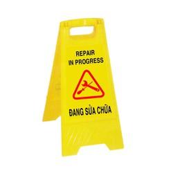 Bảng cảnh báo khu vực đang sửa chữa