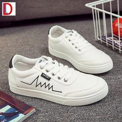 GIÀY SNEAKER NAM-Giày vải nam màu trắng, giày thể thao nam, rẻ đẹp