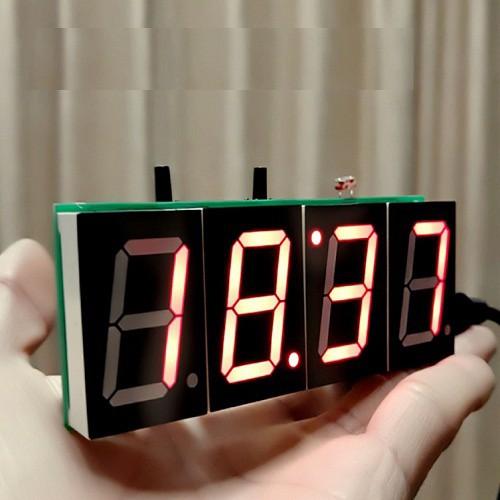 Linh kiện điện tử Đồng hồ tự Ráp DIY màu đỏ
