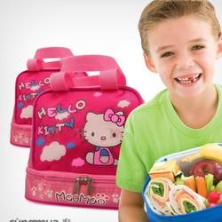 Túi đựng hộp cơm 2 tầng tiện ích cho bé đi học đi chơi dã ngoại
