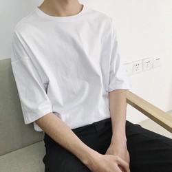 áo thun tay lỡ form rộng nam nữ