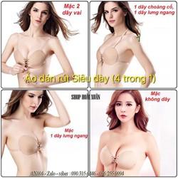 Áo ngực dán tròn rút dây chất keo chắc chắn bám tốt dày 3cm hàng XK