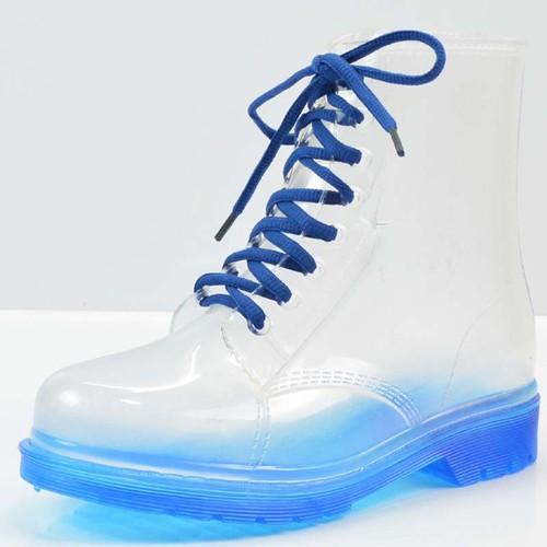 giày boot nữ trong suốt Mã: GC0254 - XANH