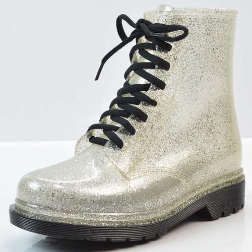 giày boot nữ kim tuyến Mã: GC0253 - BẠC
