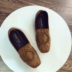 giày mọi nữ khóa tròn
