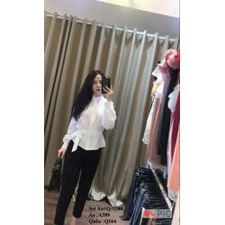 set áo sơ mi + quần dài