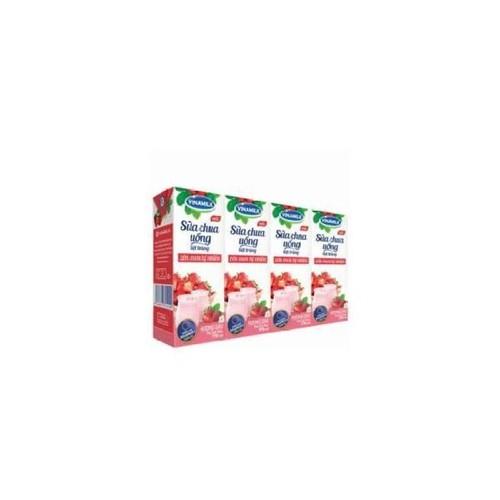 Thùng 48 hộp sữa chua uống Vinamilk hương dâu 170ml