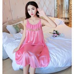 Đầm Váy ngủ nữ 2 dây phi lụa mềm mại thoáng mát SX576