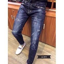 Quần Jeans Nam Xước nhẹ   MS 3072