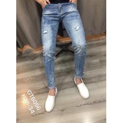 Quần Jeans Nam Xước nhẹ   MS 6056