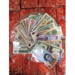Bộ sưu tập tiền thật từ 28 nước gồm 52 tờ