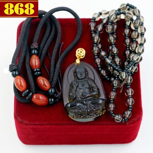Bộ dây chuyền Phật A Di Đà Obsidian - 5537445 , 9311980 , 15_9311980 , 330000 , Bo-day-chuyen-Phat-A-Di-Da-Obsidian-15_9311980 , sendo.vn , Bộ dây chuyền Phật A Di Đà Obsidian