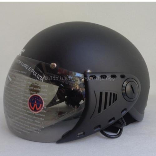 Mũ bảo hiểm trẻ em hoặc người đầu nhỏ - GRS A08k màu đen nhám
